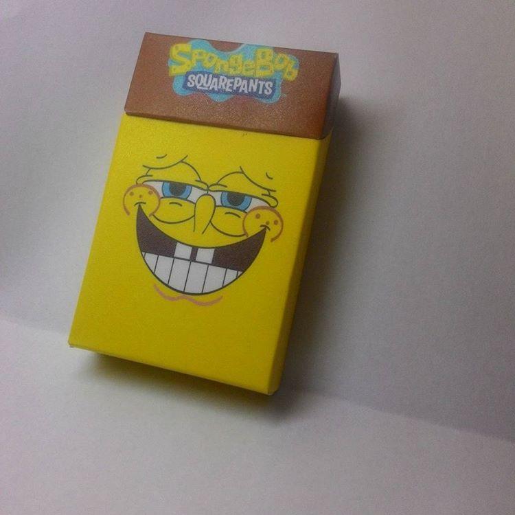bungkus rokok spongebob squarepants
