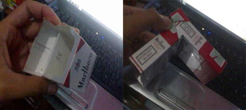 asbak bungkus rokok